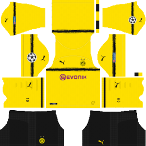 Borussia Dortmund UCL International Kit (Black Shorts Edition)