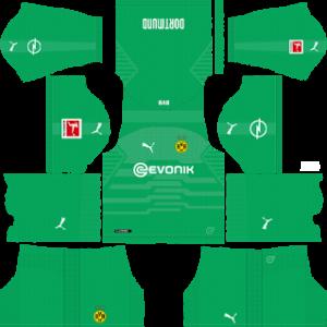 Borussia Dortmund Goalkeeper Home Kit 2019