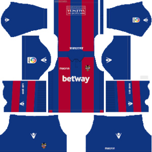 Levante UD Kits 2018/2019 Dream League Soccer