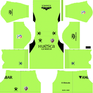 SD Huesca Goalkeeper Home Kit 2019