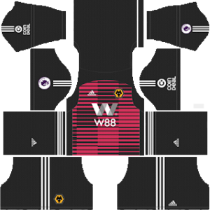 Wolverhampton Wanderers FC Goalkeeper Away Kit 2019