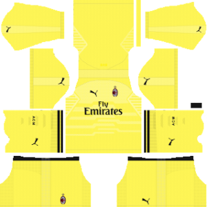 AC Milan Goalkeeper Home Kit 2019