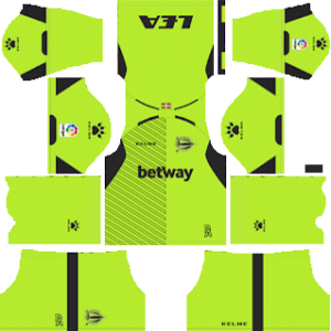 Deportivo Alaves Goalkeeper Home Kit 2019