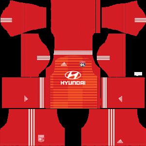 Olympique Lyonnais Goalkeeper Home Kit 2019