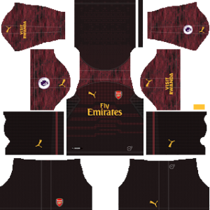 Arsenal Goalkeeper Home Kit 2019