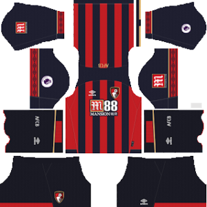 A.F.C. Bournemouth Kits 2018-2019 Dream League Soccer