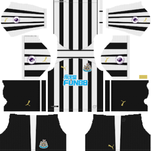 Newcastle United Kits 2018/2019 Dream League Soccer