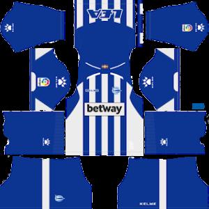 Deportivo Alaves Kits 2018/2019 Dream League Soccer