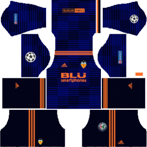 Valencia UCL Away Kit