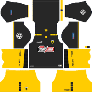 AEK F.C Away UCL Kit