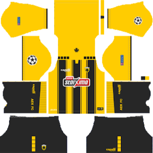 AEK F.C UCL Home Kit