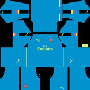 Arsenal Goalkeeper Away Kit 2017