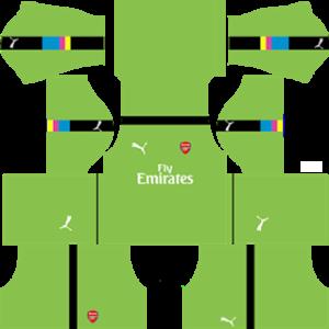 Arsenal Goalkeeper Third Kit 2017