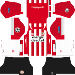 PSV Eindhoven UCL Home Kit