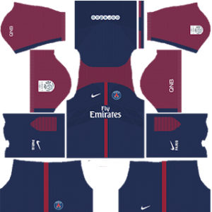 Paris Saint-Germain Kits 2017/2018 Dream League Soccer