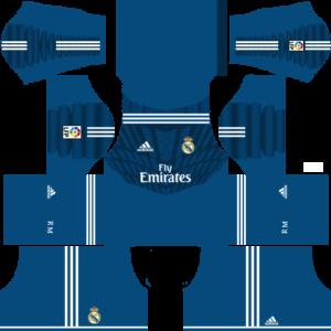 Real Madrid Goalkeeper Home Kit 2015