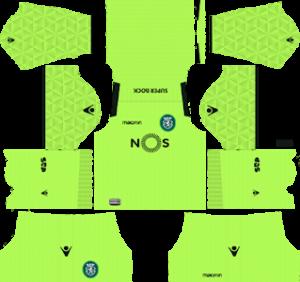 Sporting CP Goalkeeper Away Kit 2019