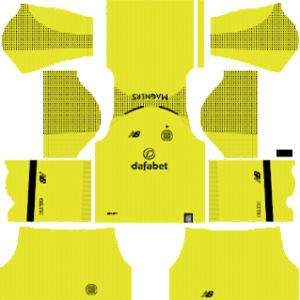 Celtic FC Goalkeeper Home Kit 2019