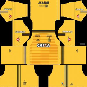 Flamengo Goalkeeper Home Kit 2019