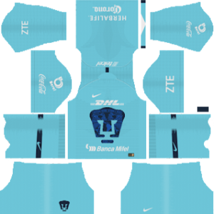 Pumas UNAM Goalkeeper Home Kit 2019