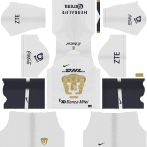 Pumas UNAM Kits 2018/2019 Dream League Soccer