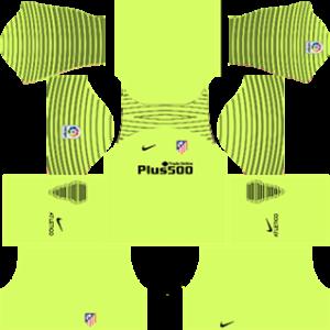 Atlético Madrid Goalkeeper Away Kit 2017