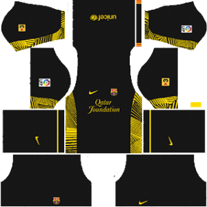 Barcelona Goalkeeper Home Kit 2012