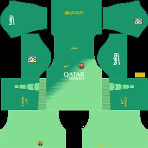 Barcelona Goalkeeper Home Kit 2015
