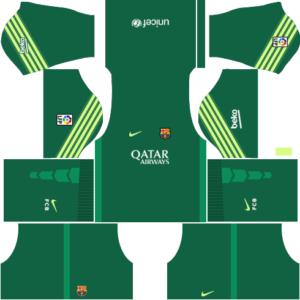 Barcelona Goalkeeper Home Kit 2016