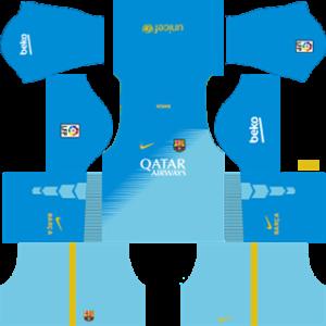 Barcelona Goalkeeper Third Kit 2015
