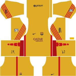 Barcelona Goalkeeper Third Kit 2016