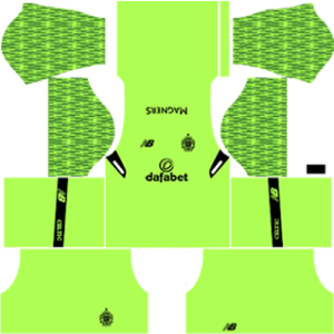 Celtic FC Goalkeeper Home Kit 2018