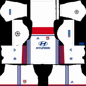 Olympique Lyonnais UCL Kits 2018/2019 Dream League Soccer