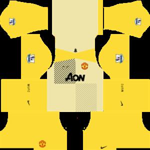 Manchester United Goalkeeper Away Kit 2014
