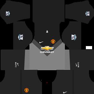 Manchester United Goalkeeper Away Kit 2015