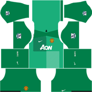 Manchester United Goalkeeper Home Kit 2014