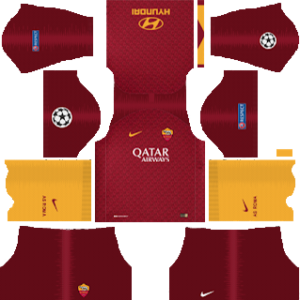 AS Roma UCL Kits 2018/2019 Dream League Soccer