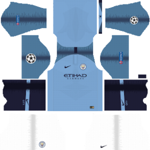 Manchester City UCL Kits 2018/2019 Dream League Soccer