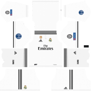 Real Madrid UEFA Badge Kits 2018/2019 Dream League Soccer