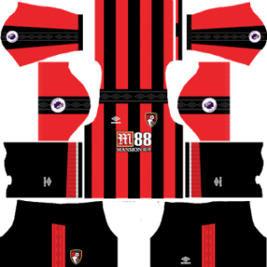 A.F.C. Bournemouth Kits 2017-2018 Dream League Soccer
