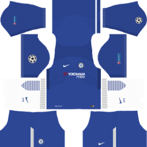 Chelsea UCL Kits 2017/2018 Dream League Soccer
