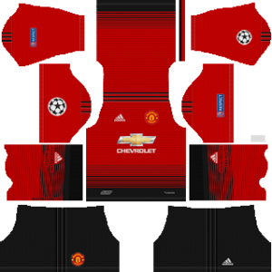 Manchester United UCL Kits 2018/2019 Dream League Soccer