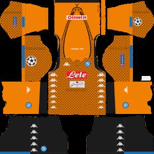 S.S.C Napoli Goalkeeper Away Kit: