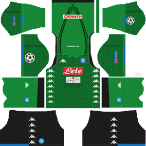 S.S.C Napoli Goalkeeper Home Kit: