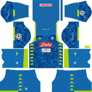 S.S.C Napoli UCL Kits 2018/2019 Dream League Soccer