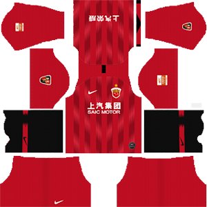 Shanghai SIPG FC Home Kit (Black Socks)