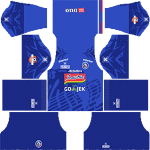Arema FC Home Kit (Indonesia Liga 1 2019)