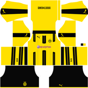 Borussia Dortmund Home Kit (Black )