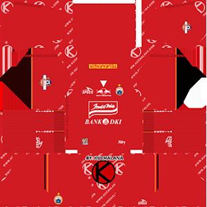 Persija Jakarta Home Kit (Indonesia Liga 1 2019)