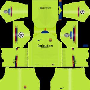 Barcelona UEFA Badge Away Kit
